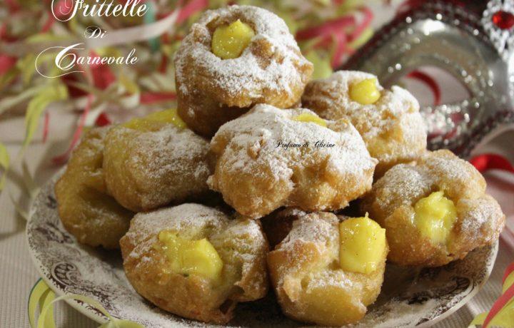 Frittelle di Carnevale con crema al limoncello