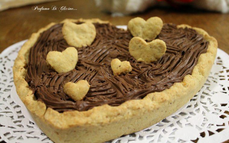 Crostata cuore al cioccolato per San Valentino