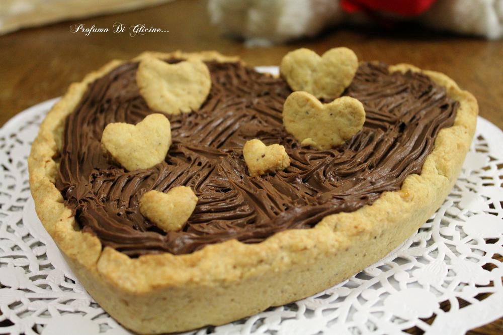 Crostata cuore al cioccolato per san valentino ricetta for Nuove ricette dolci