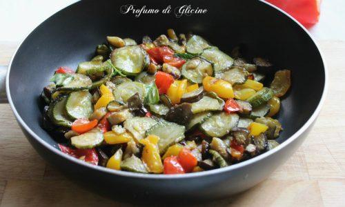Mix di verdure in padella - Contorno saporito senza frittura