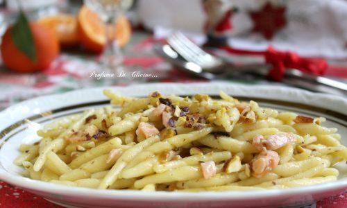 Trofie salmone e pistacchi - Primo piatto veloce