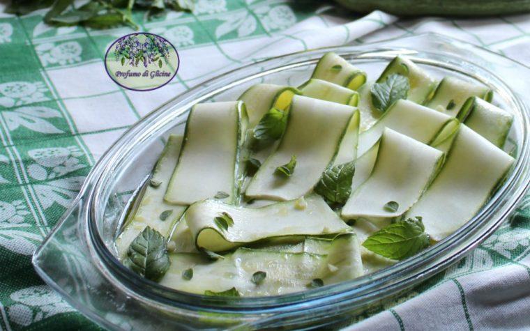 Zucchine marinate senza cottura