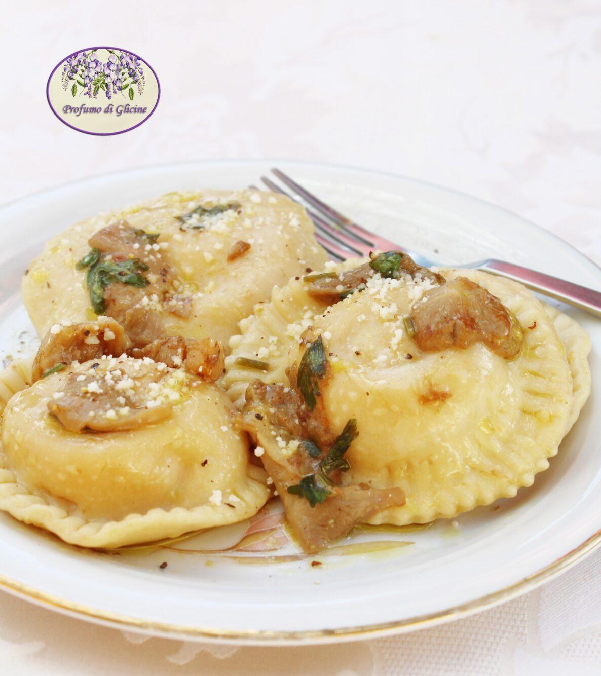Margherite di zucca e patate ai funghi porcini