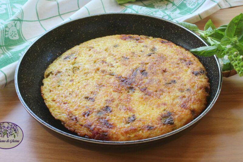 Schiacciata di riso filante in padella