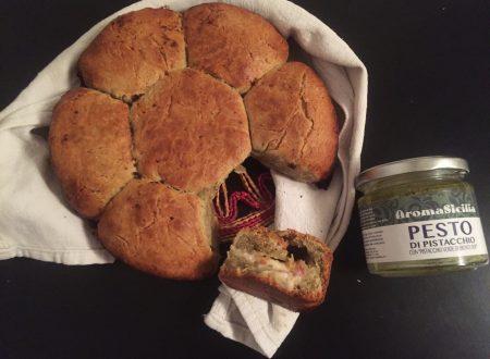 Pan Brioche salato al pistacchio ripieno