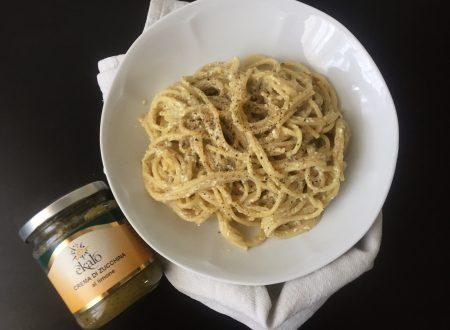 Spaghetti alla crema di zucchine