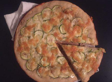 Focaccia zucchine formaggio e zenzero