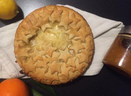 Crostata agli agrumi con crema al limone e marmellata di arance