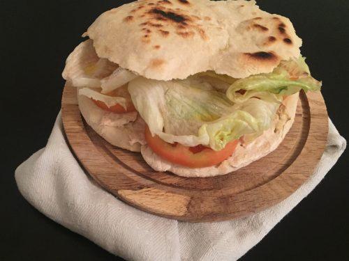 Pane puccia in padella senza lievitazione