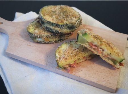 Sandwiches di zucchina pizzanti