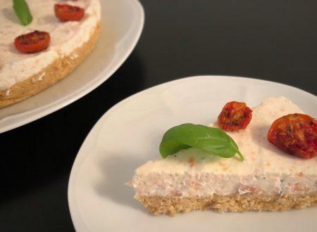 Cheesecake salata al salmone e pomodorini confit
