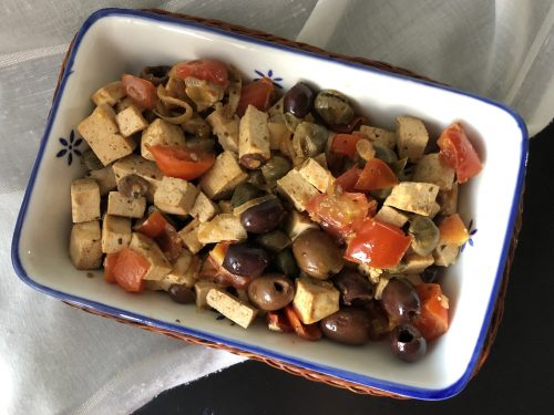 Tofu alla puttanesca