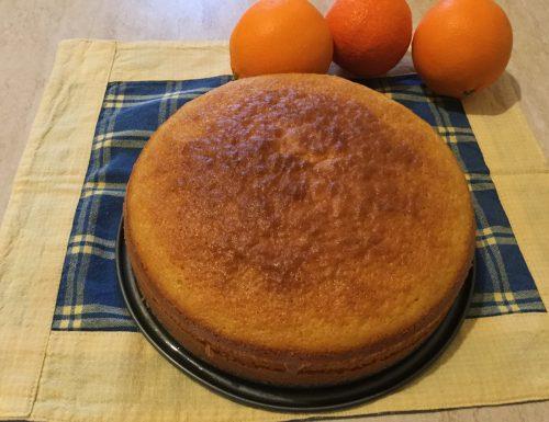 Torta all' arancia senza condimento super profumata