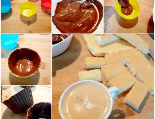 Cestini di cioccolato al cappuccino