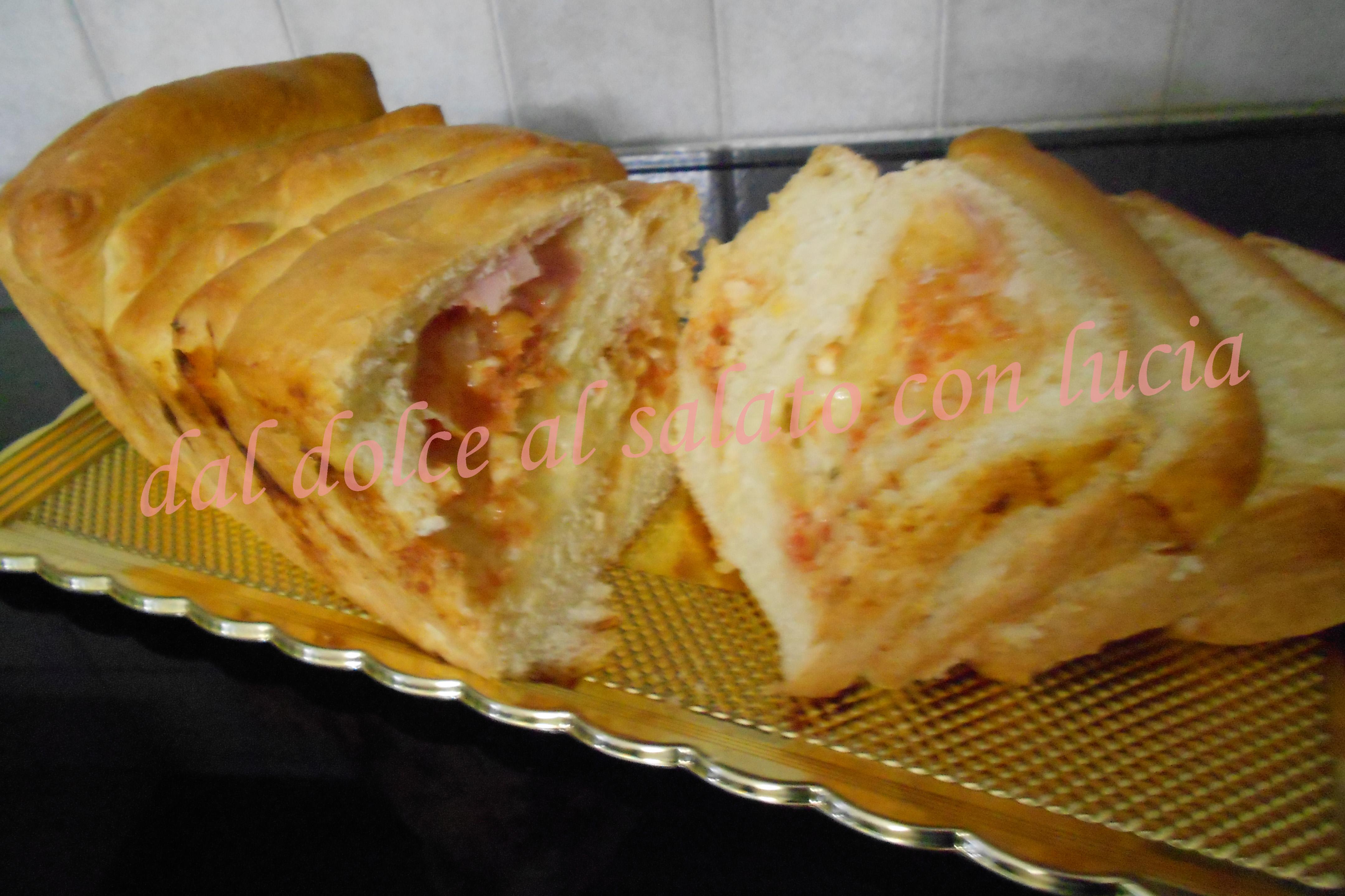 Pan brioche salato a fisarmonica