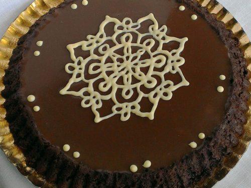 Crostata morbida ai tre cioccolati
