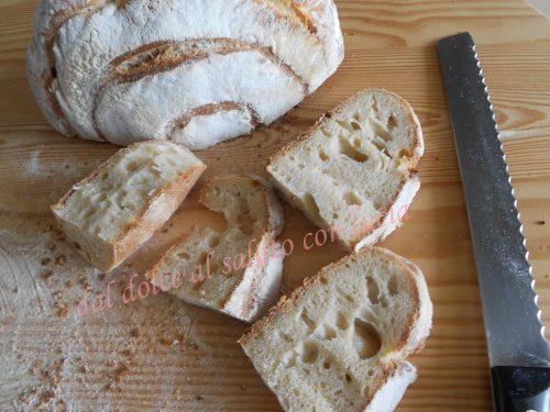 Pane con semola Senatore Cappelli, farina 0 e lievito madre