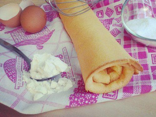 Rotolo di pasta biscuit