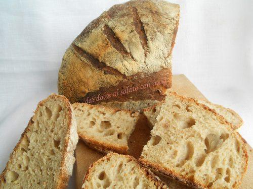Pane con semola Cappelli e farina integrale, con pasta madre