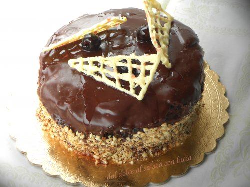 Sacher torte rivisitata con marmellata di amarene