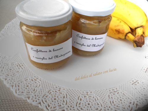 Confettura di banane e vaniglia (senza fruttapec)