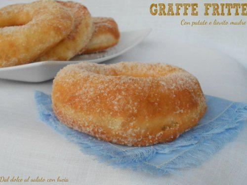 Graffe fritte con patate, ricetta con lievito madre