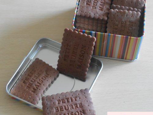 Petits beurre al cacao fatti in casa (pasta frolla senza uova)