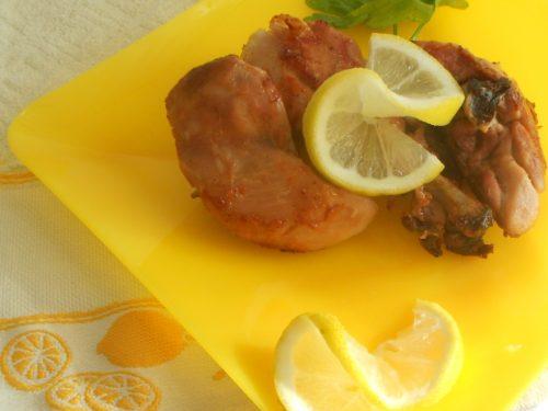 Cosce di pollo al limone al forno