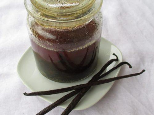 L'estratto naturale di vaniglia fatto in casa a base di alcool