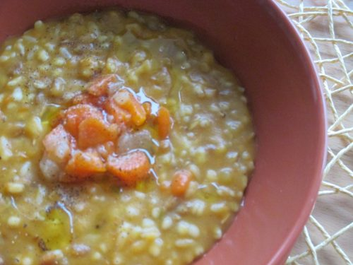 Zuppa ai 5 cereali con verdure