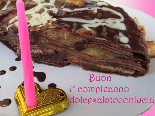 Torta golosa di crepes ispirata a Montersino e buon primo compleanno blog!!!