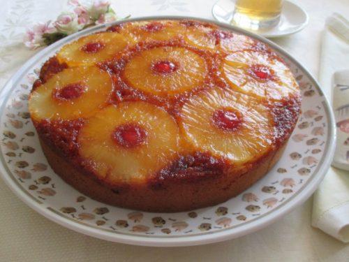 Torta rovesciata all'ananas, ricetta senza burro