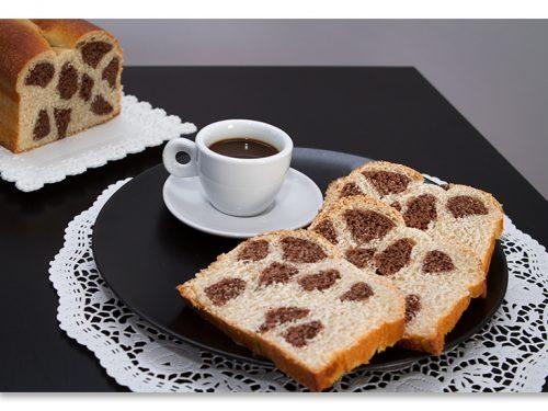 Pan brioche maculato o leopardato, ricetta lievitata con tutorial