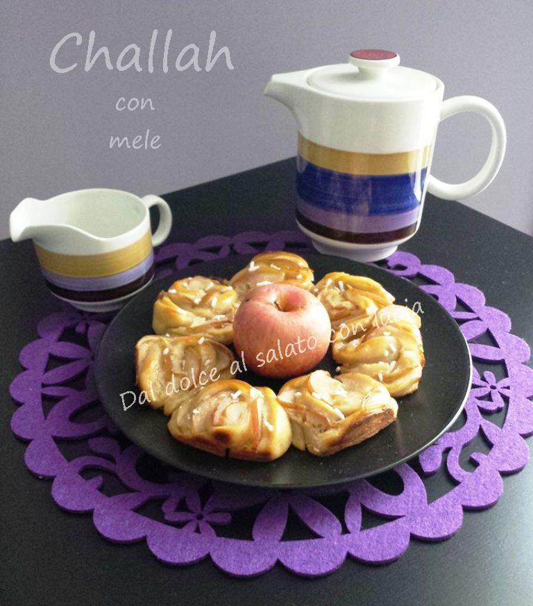 Rose di challah con mele per Re-cake 2.0