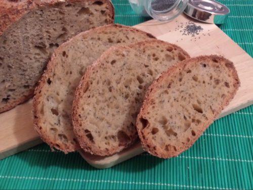 Pane alla barbabietola rossa e lievito naturale