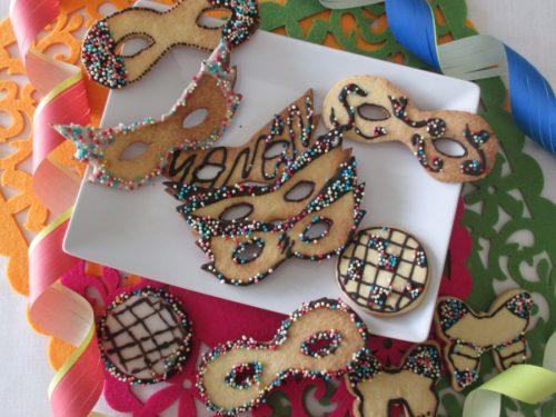 Biscotti maschere di Carnevale, ricetta con foto