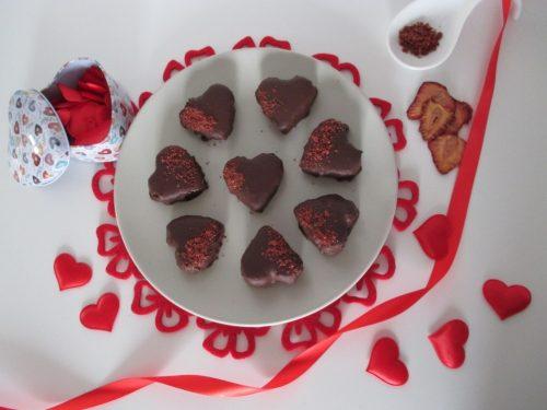 Cioccolatini al cocco e fragole, Buon San Valentino a tutti!