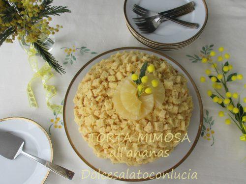 Torta mimosa all'ananas, ricetta con foto