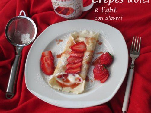 Crepes light con soli albumi