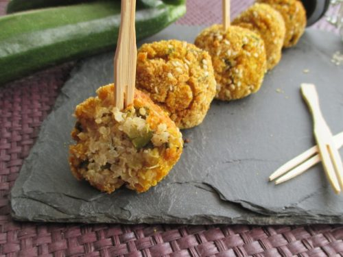 Polpette al forno con quinoa e zucchine