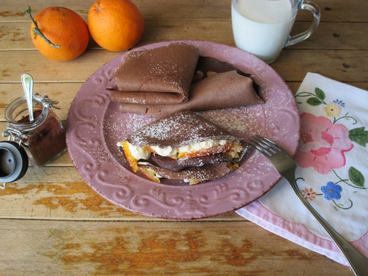 Crepes light con albumi e cacao