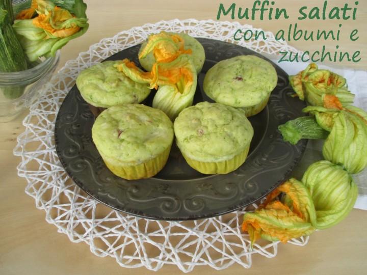 Muffin salati con albumi e zucchine