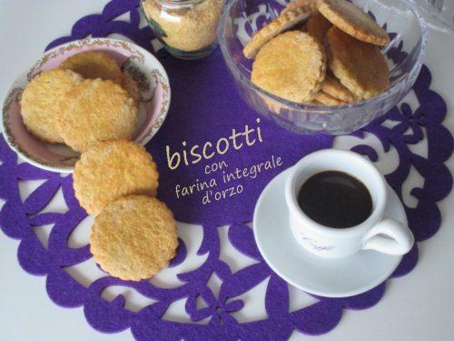 Biscotti integrali con farina di orzo