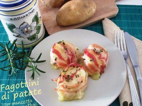 Fagottini di patate con pancetta ed emmenthal