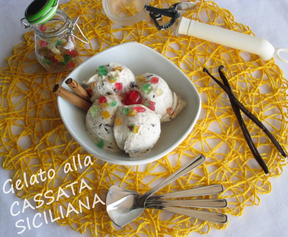 Gelato alla cassata siciliana
