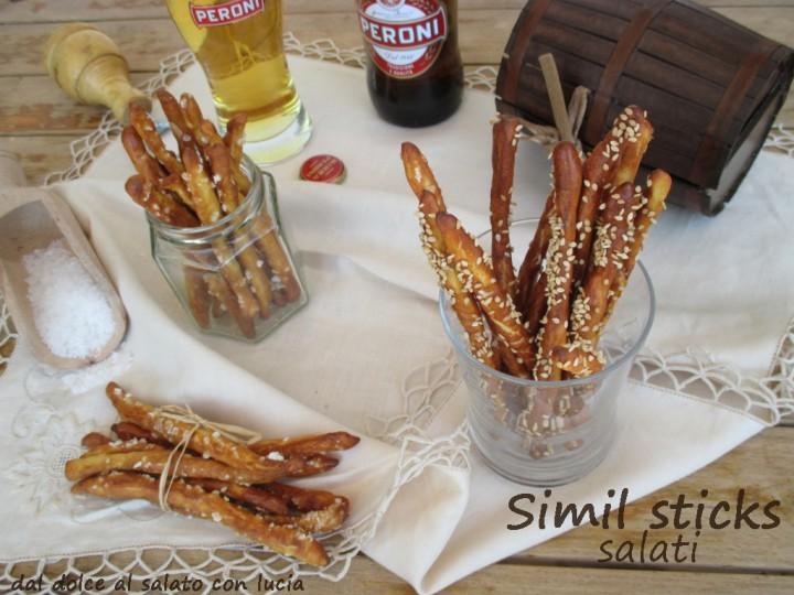 simil sticks salati con esubero