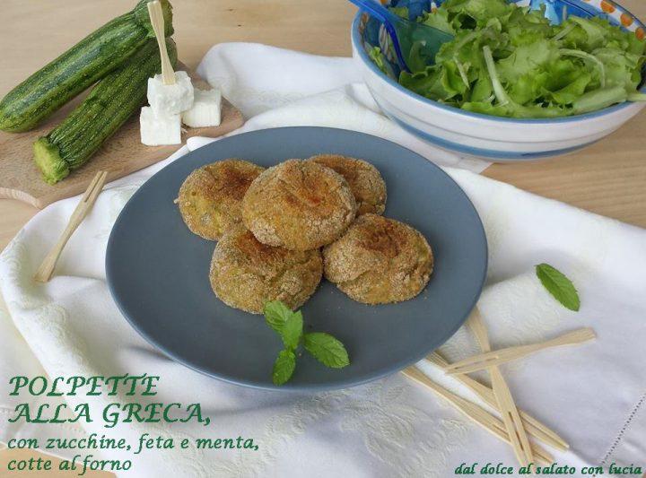 Polpette di zucchine con feta e menta