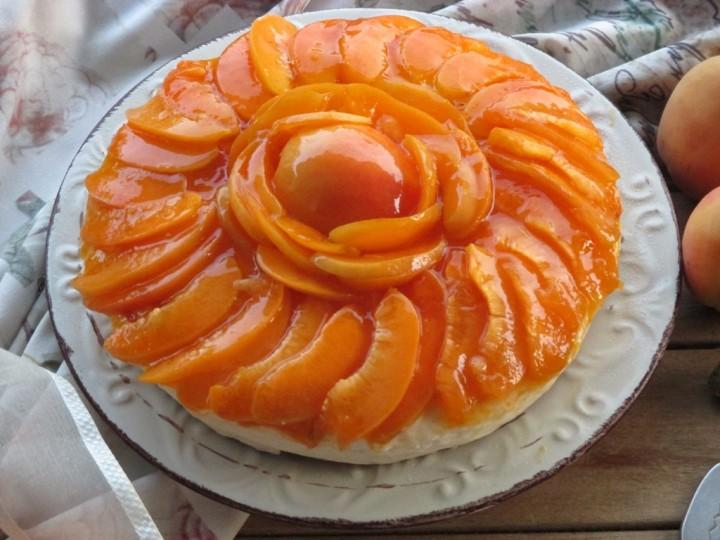 Cheesecake alle albicocche (senza cottura)