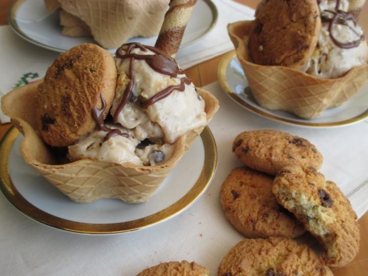 Gelato gusto cookies fatto in casa