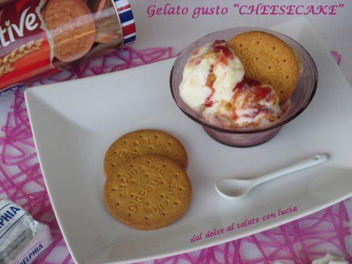 Gelato gusto cheesecake